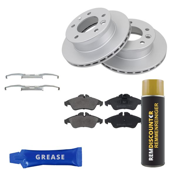 Voordeelpakket remschijven & remblokken voorzijde MERCEDES-BENZ SPRINTER 4-t Open laadbak/ Chassis (904) 413 CDI