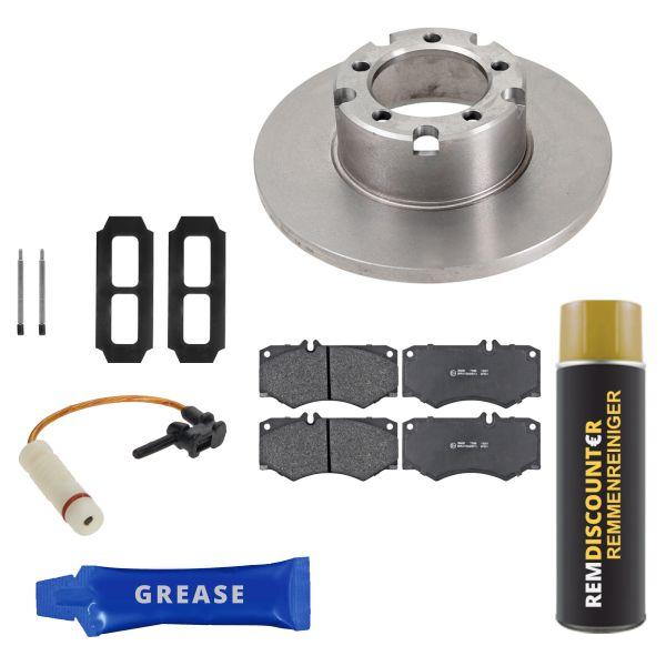 Voordeelpakket remschijven & remblokken voorzijde MERCEDES-BENZ T1 Open laadbak/ Chassis (601) 207 D 2.4