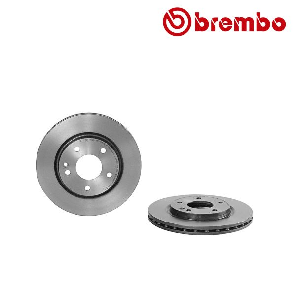 Remschijven voorzijde Brembo premium MERCEDES-BENZ VANEO (414) 1.6