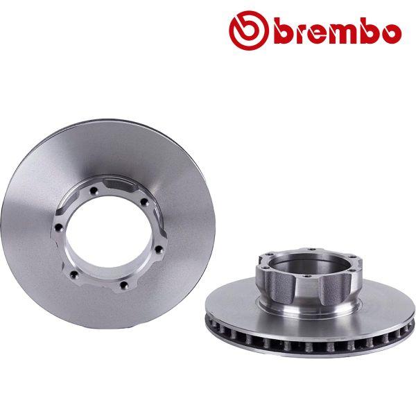 Remschijven voorzijde Brembo premium MERCEDES-BENZ VARIO Kiepauto 815 D, 816 D