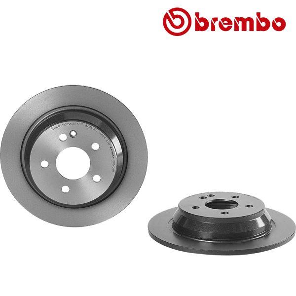 Remschijven achterzijde Brembo premium MERCEDES-BENZ VIANO (W639) CDI 2.2 4-matic