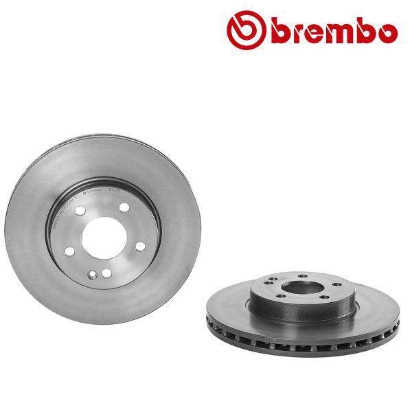 Remschijven voorzijde Brembo premium MERCEDES-BENZ VITO / MIXTO Bestelwagen (W639) 115 CDI 4x4