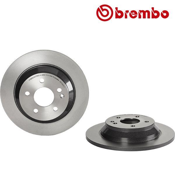 Remschijven achterzijde Brembo premium MERCEDES-BENZ VITO Mixto (Double Cabin) (W447) 114 CDI 4-matic