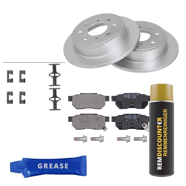 Voordeelpakket remschijven & remblokken achterzijde MG MG ZR 105