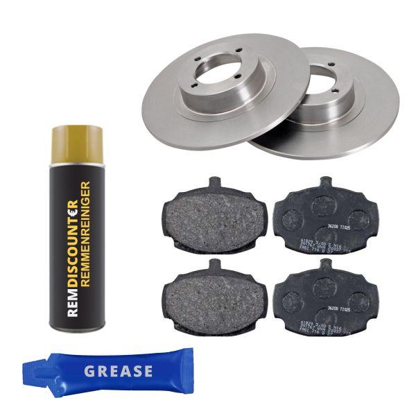 Voordeelpakket remschijven & remblokken voorzijde MG MGB GT 1.8
