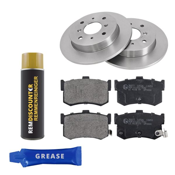 Voordeelpakket remschijven & remblokken achterzijde MG MGR V8 3.9