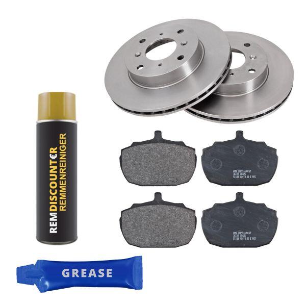 Voordeelpakket remschijven & remblokken voorzijde MG MGR V8 3.9