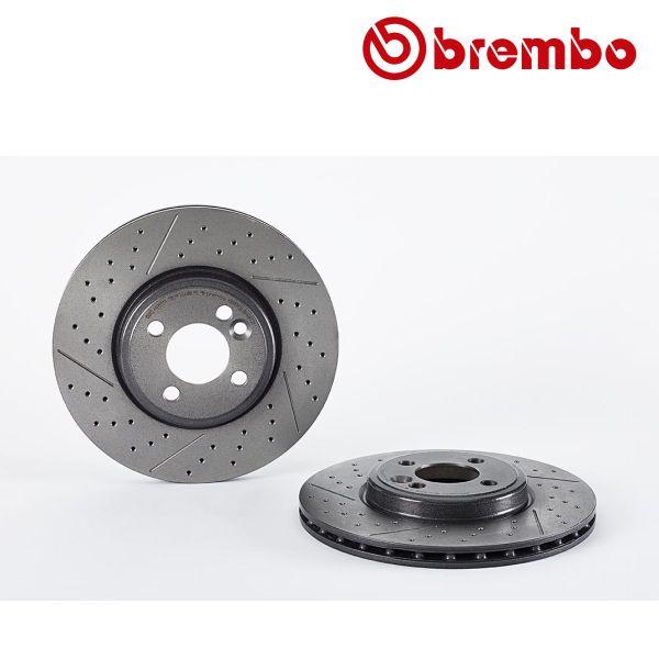 Remschijven voorzijde Brembo premium MINI MINI CLUBVAN One