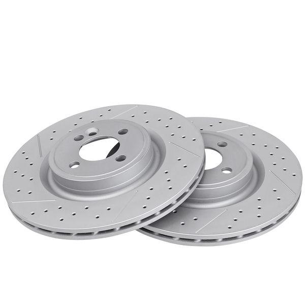 Geperforeerde remschijven voorzijde Sport kwaliteit MINI MINI Coupé Cooper SD