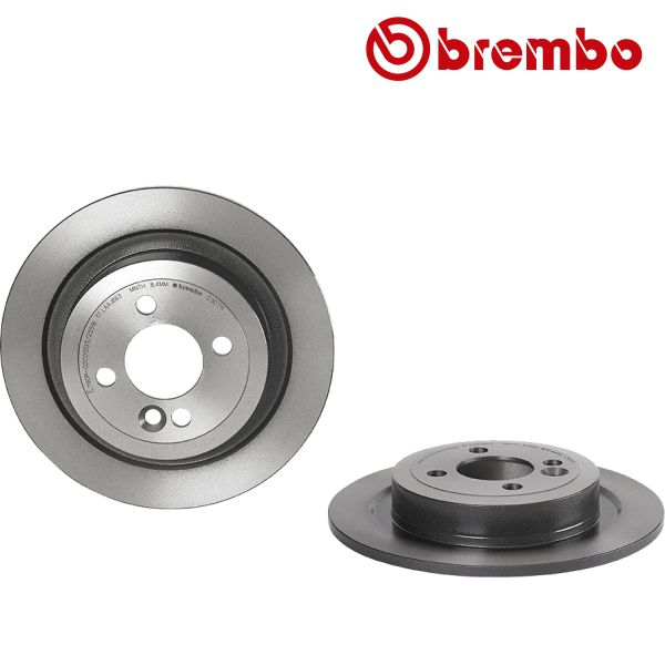 Remschijven achterzijde Brembo premium MINI MINI One D