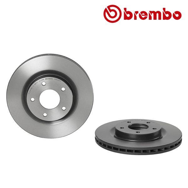 Remschijven voorzijde Brembo premium MITSUBISHI ASX 1.6 DI-D