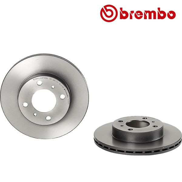 Remschijven voorzijde Brembo premium MITSUBISHI COLT V 1300 GL,GLX