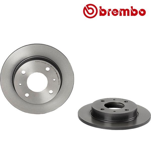 Remschijven achterzijde Brembo premium MITSUBISHI COLT VI 1.5 Ralliart R