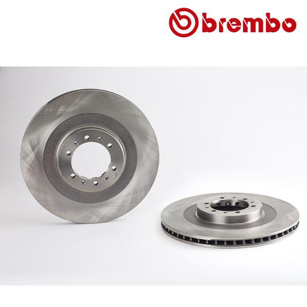Remschijven voorzijde Brembo premium MITSUBISHI L200 2.5 TD 4WD