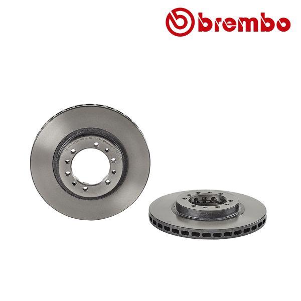 Remschijven voorzijde Brembo premium MITSUBISHI L200 2.5 TD