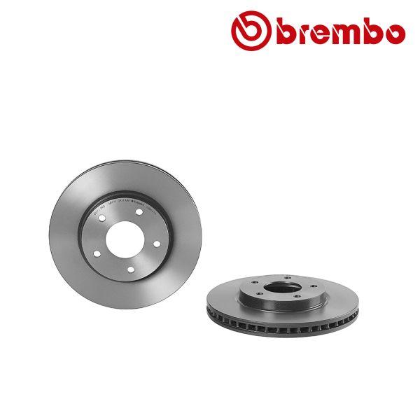 Remschijven voorzijde Brembo premium MITSUBISHI LANCER VIII Sportback 1.8 Bifuel