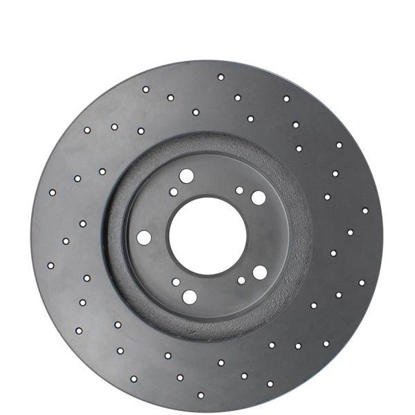 Geperforeerde remschijven voorzijde Sport kwaliteit MITSUBISHI LANCER VIII Sportback 1.8 MIVEC