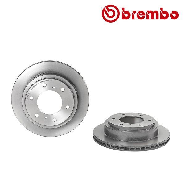Remschijven achterzijde Brembo premium MITSUBISHI PAJERO CLASSIC 3.2 DiD