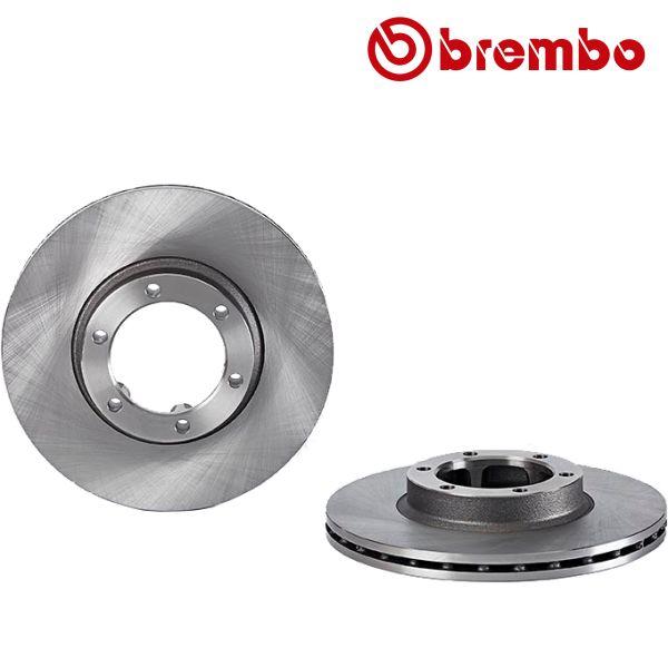Remschijven voorzijde Brembo premium MITSUBISHI PAJERO I 2.3 D