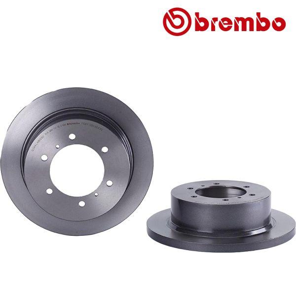 Remschijven achterzijde Brembo premium MITSUBISHI PAJERO II Canvas Top 3.0 V6