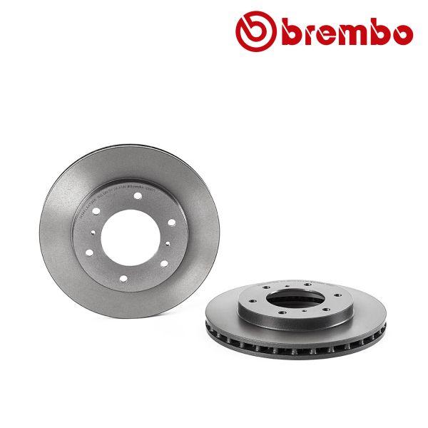 Remschijven voorzijde Brembo premium MITSUBISHI PAJERO III 3.5