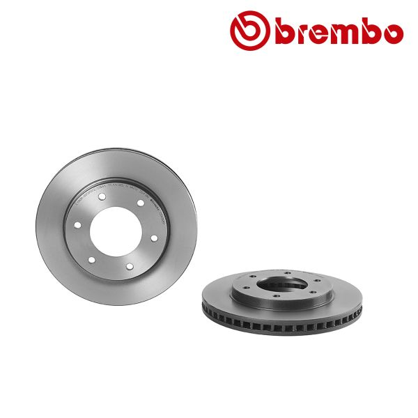 Remschijven voorzijde Brembo premium MITSUBISHI PAJERO SPORT II 2.5 DI-D