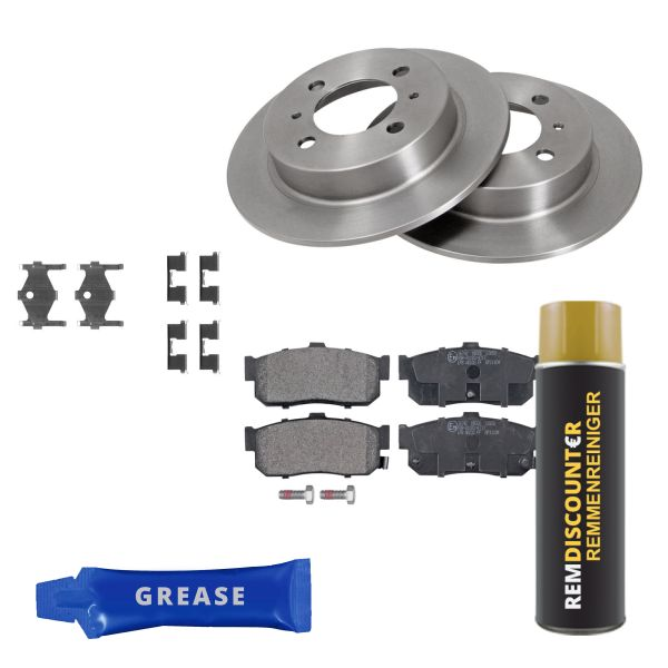 Voordeelpakket remschijven & remblokken achterzijde NISSAN 100NX 1.6