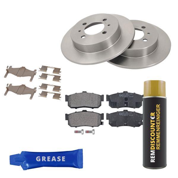 Voordeelpakket remschijven & remblokken achterzijde NISSAN 100NX 2.0 GTI