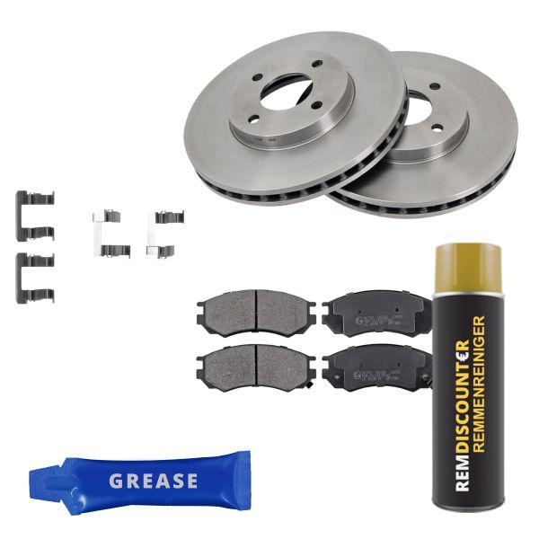 Voordeelpakket remschijven & remblokken voorzijde NISSAN 100NX 2.0 GTI