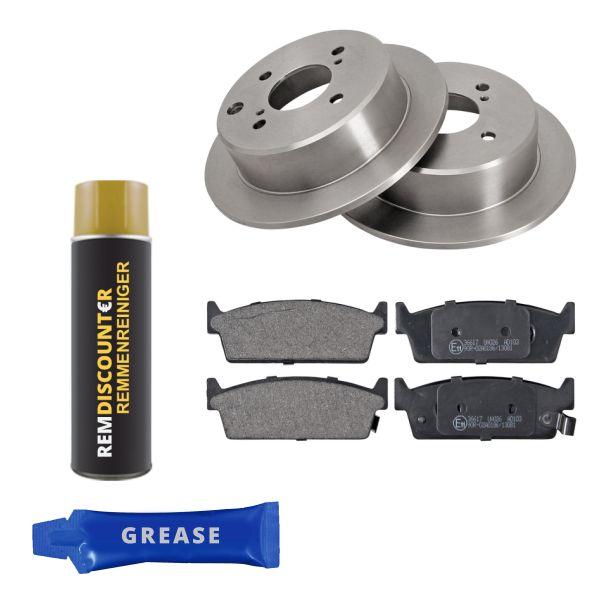 Voordeelpakket remschijven & remblokken achterzijde NISSAN 200SX 1.8