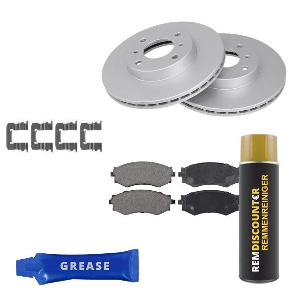 Voordeelpakket remschijven & remblokken voorzijde NISSAN 200SX 1.8