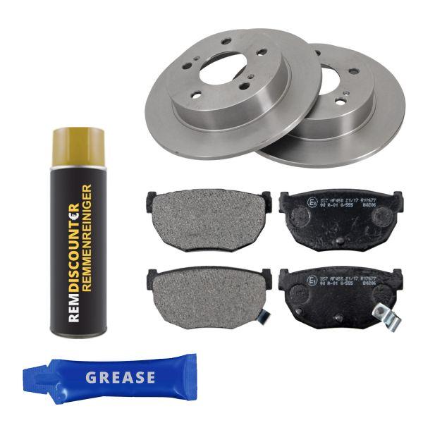 Voordeelpakket remschijven & remblokken achterzijde NISSAN 200SX 2.0 i 16V