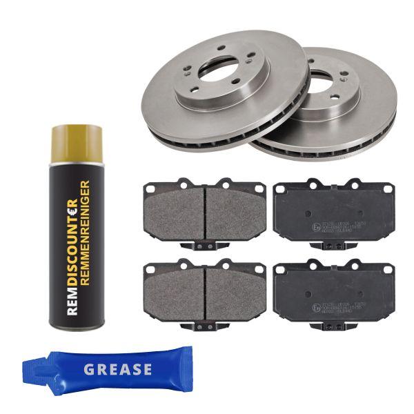 Voordeelpakket remschijven & remblokken voorzijde NISSAN 200SX 2.0 i 16V Turbo
