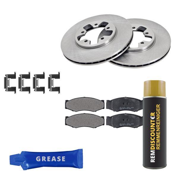 Voordeelpakket remschijven & remblokken voorzijde NISSAN 300ZX Coupé 3.0