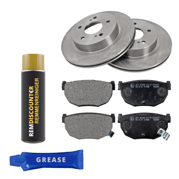 Voordeelpakket remschijven & remblokken achterzijde NISSAN 300ZX Coupé 3.0 Turbo