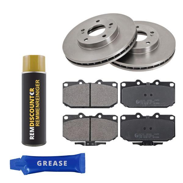 Voordeelpakket remschijven & remblokken voorzijde NISSAN 300ZX 3.0 Twin Turbo