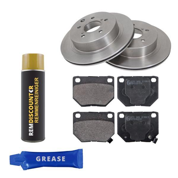 Voordeelpakket remschijven & remblokken achterzijde NISSAN 300ZX 3.0 Twin Turbo