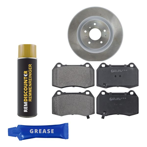 Voordeelpakket remschijven & remblokken voorzijde NISSAN 350 Z Coupé 3.5
