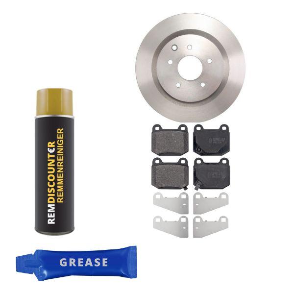 Voordeelpakket remschijven & remblokken achterzijde NISSAN 350Z Roadster 3.5