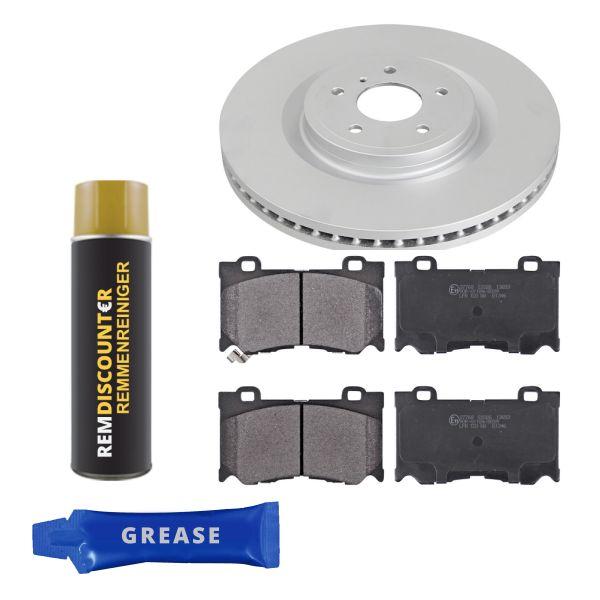 Voordeelpakket remschijven & remblokken voorzijde NISSAN 370Z Roadster 3.7