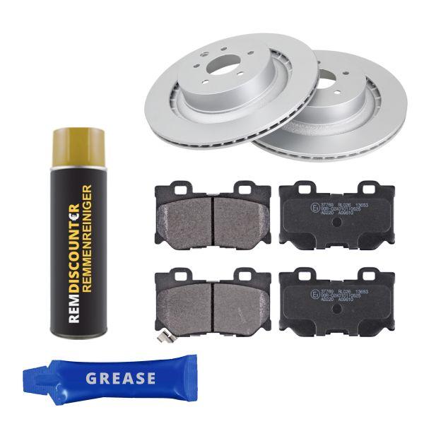 Voordeelpakket remschijven & remblokken achterzijde NISSAN 370Z Roadster 3.7