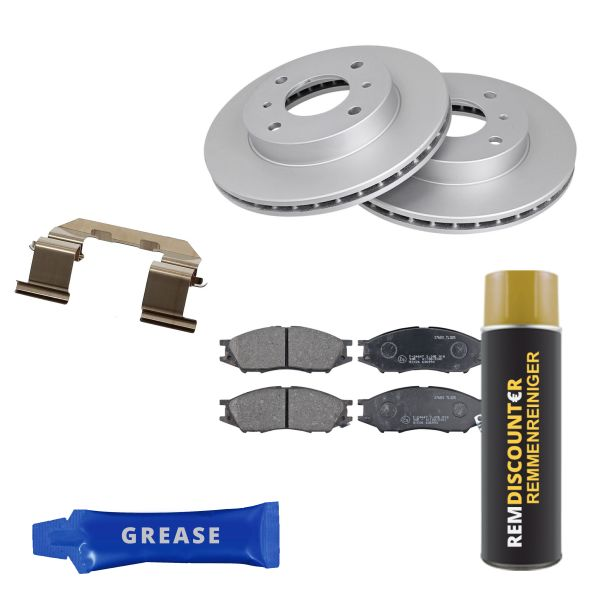 Voordeelpakket remschijven & remblokken voorzijde NISSAN ALMERA Classic 1.6 16V