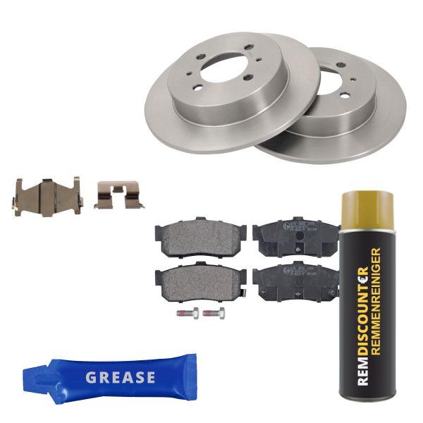 Voordeelpakket remschijven & remblokken achterzijde NISSAN ALMERA I Hatchback 1.6