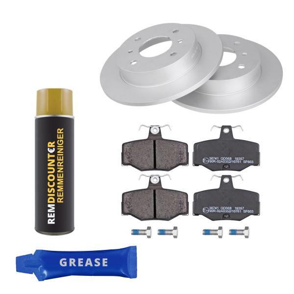Voordeelpakket remschijven & remblokken achterzijde NISSAN ALMERA II Hatchback 2.2 Di