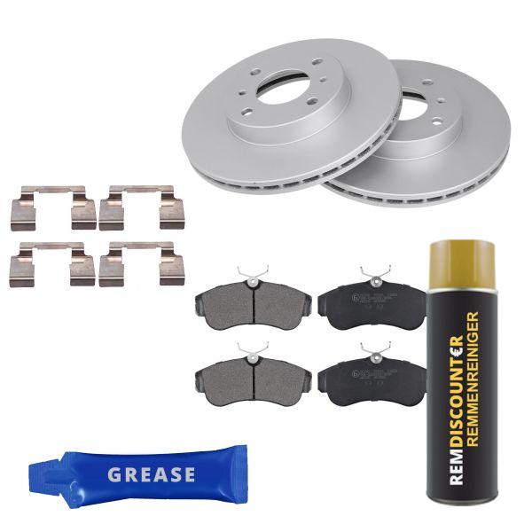 Voordeelpakket remschijven & remblokken voorzijde NISSAN ALMERA II Hatchback 2.2 Di