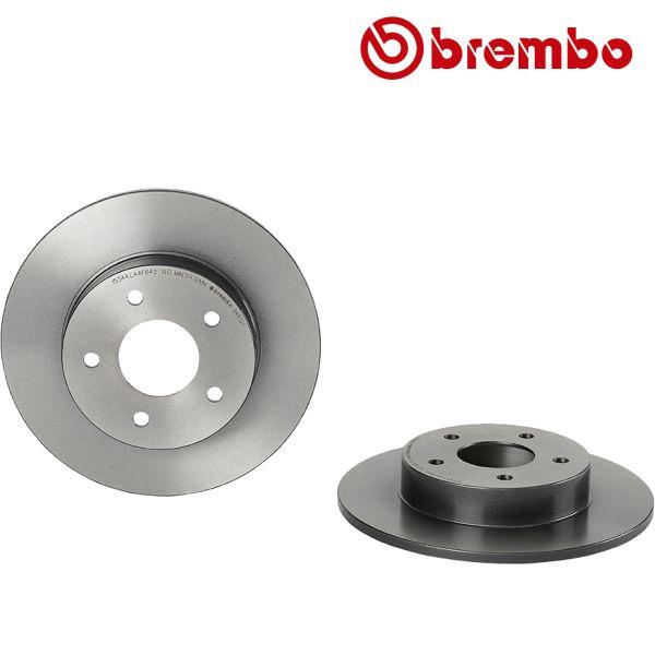 Remschijven achterzijde Brembo premium NISSAN ALMERA TINO 2.2 dCi
