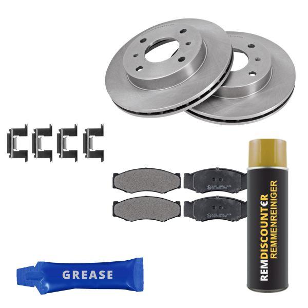 Voordeelpakket remschijven & remblokken voorzijde NISSAN BLUEBIRD Hatchback 1.6