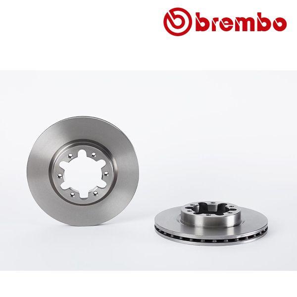 Remschijven voorzijde Brembo premium NISSAN CABSTAR E 125.35, 125.45