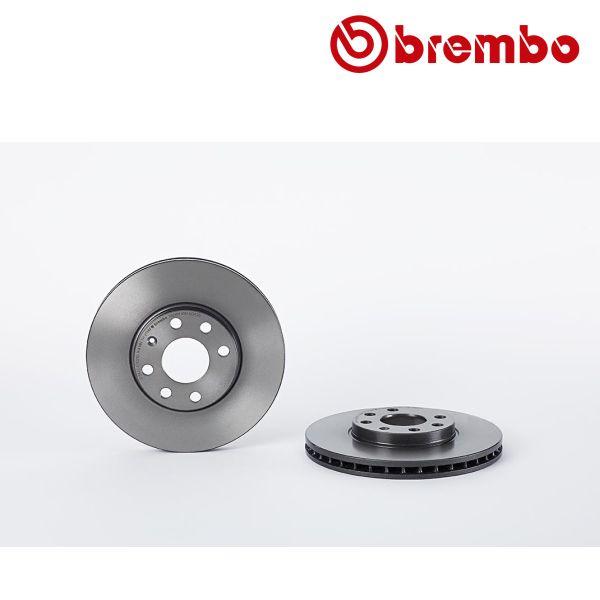 Remschijven voorzijde Brembo premium OPEL ASTRA G Hatchback 1.6 16V