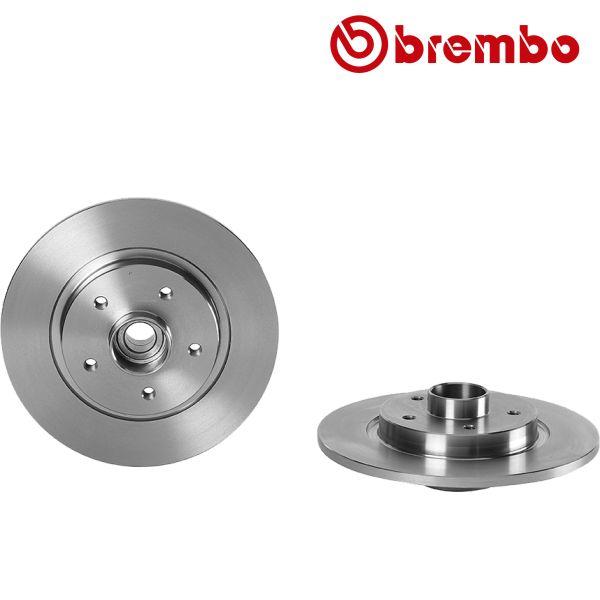 Remschijven achterzijde inclusief lagers en ABS-ring Brembo premium RENAULT KANGOO BE BOP 1.6